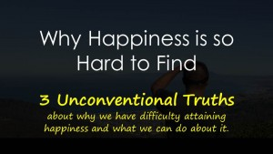 Why Happiness is Hard to Find